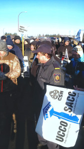 Une manifestation à l'établissement Atlantique de Renous